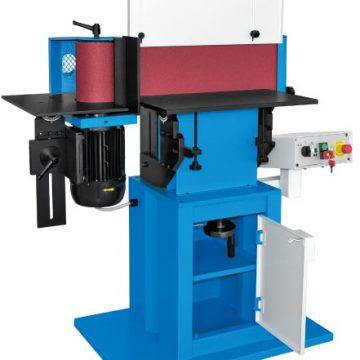 Stroj se uporablja za brušenje robov izdelkov. Ima dvižno in nagibno mizo.